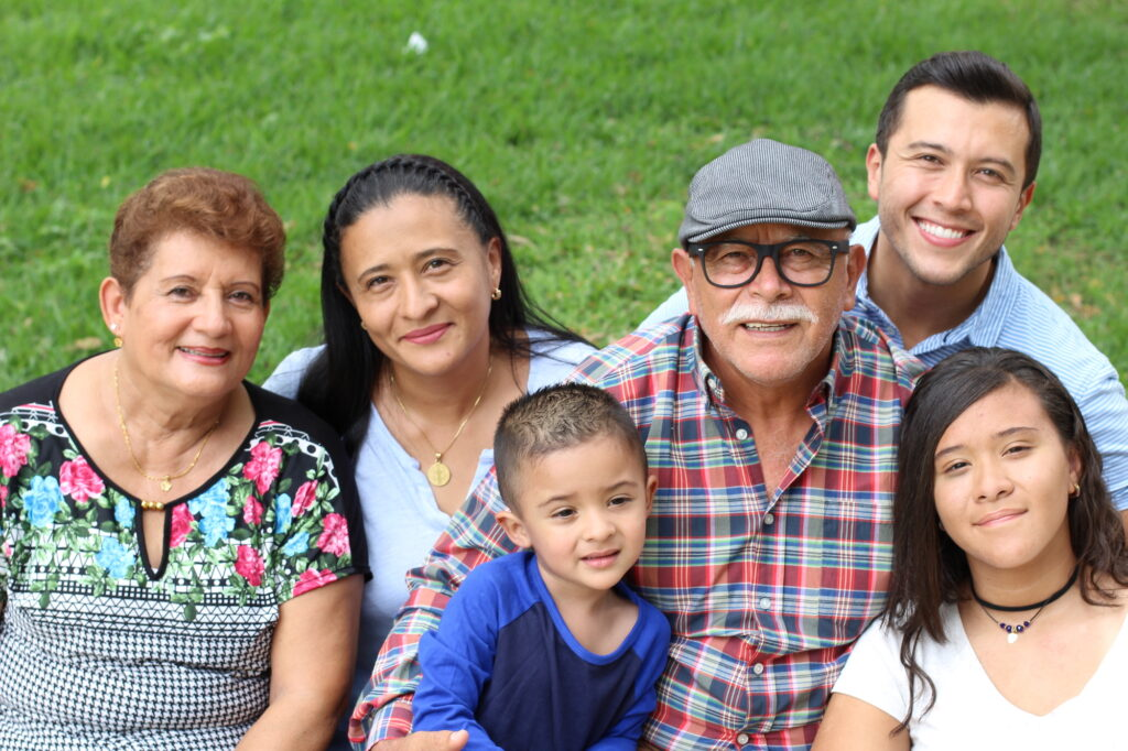 Hispanic family in the park
